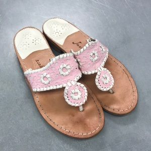 Jack Rogers sandals 7.5 pink white